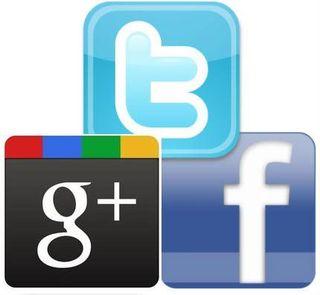 Twitter-google+facebook