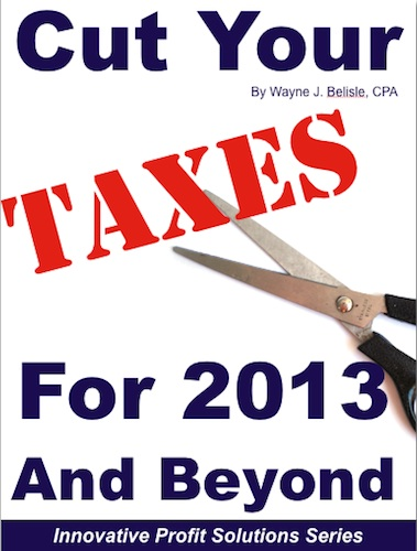 Cut taxes 2013 cover