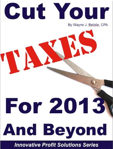 Cut taxes 2013 cover